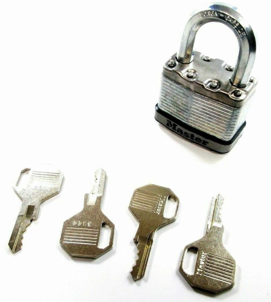 Master Lock Excell Security Armoured Laminated Steel Padlock M5D Level 9